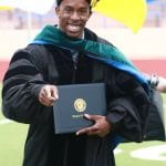 Oklahoma Reach Higher student graduating from Langston University.