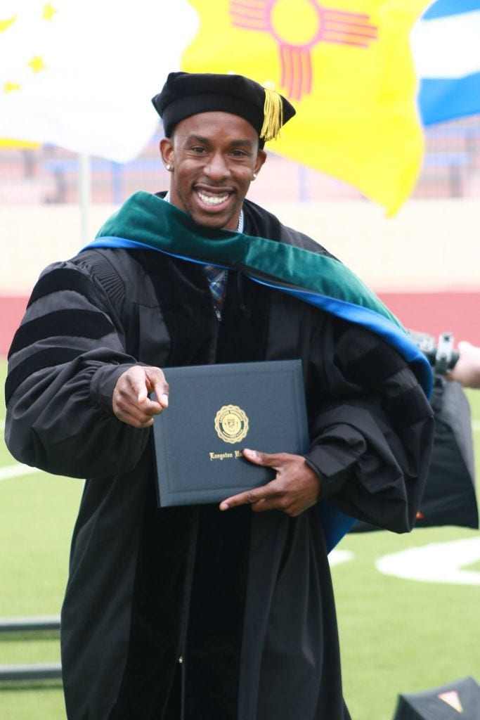 Oklahoma Reach Higher student graduating from Langston University.