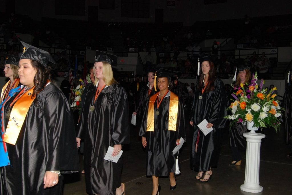 Oklahoma Reach Higher students graduating from Connors State College.