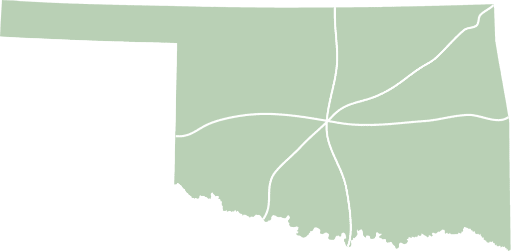 Oklahoma FlexFinish Map